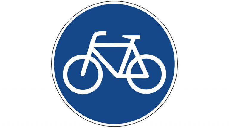 Verkehrsschilder, Fahrradstraße, Radfahrer