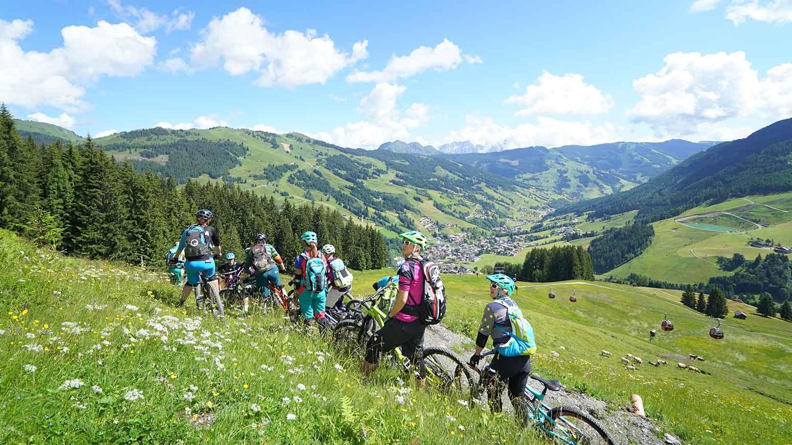 Bei den MTB-Camps gehts dann ab in die Berge.
