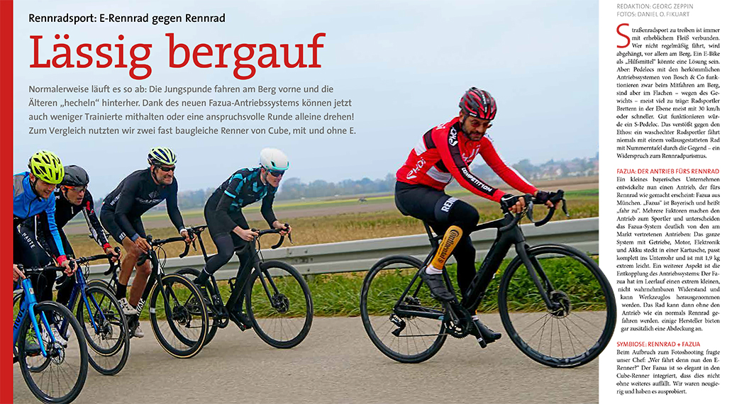 Sonderheft Fahrsicherheit: Wer braucht ein Rennrad mit Elektromotor? Wir geben die Antwort.