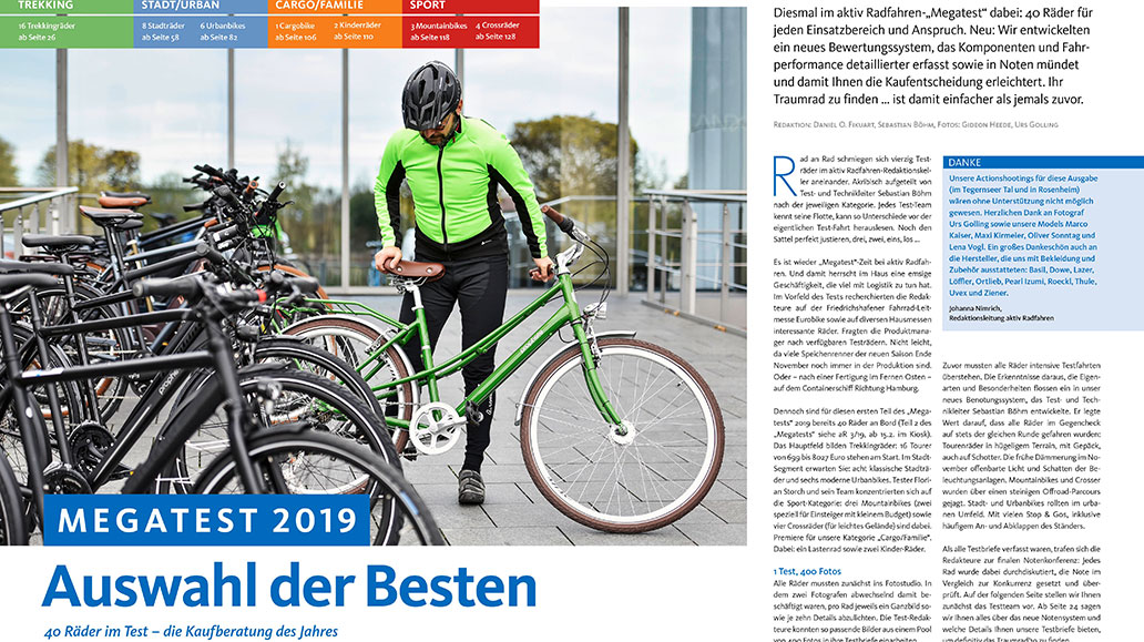 Megatest: Fahrräder der Saison 2019 aus allen Kategorien.