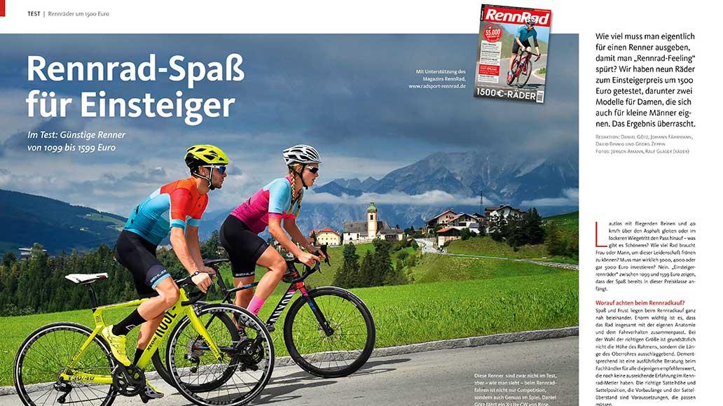Rennräder um die 1500 Euro sind ideal für Einsteiger.