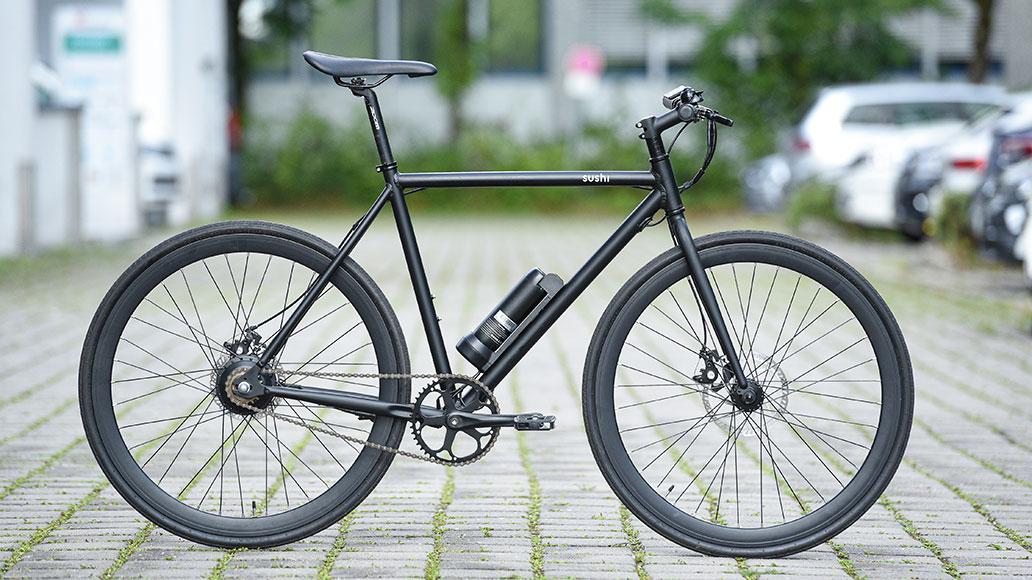 Das Sushi Bike: Singlespeed, minimalistisch ausgestattet, Lifestyle