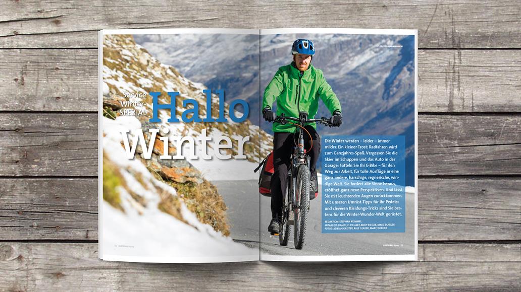 Blick ins Heft: Radfahren im Winter - welch eine Freude!