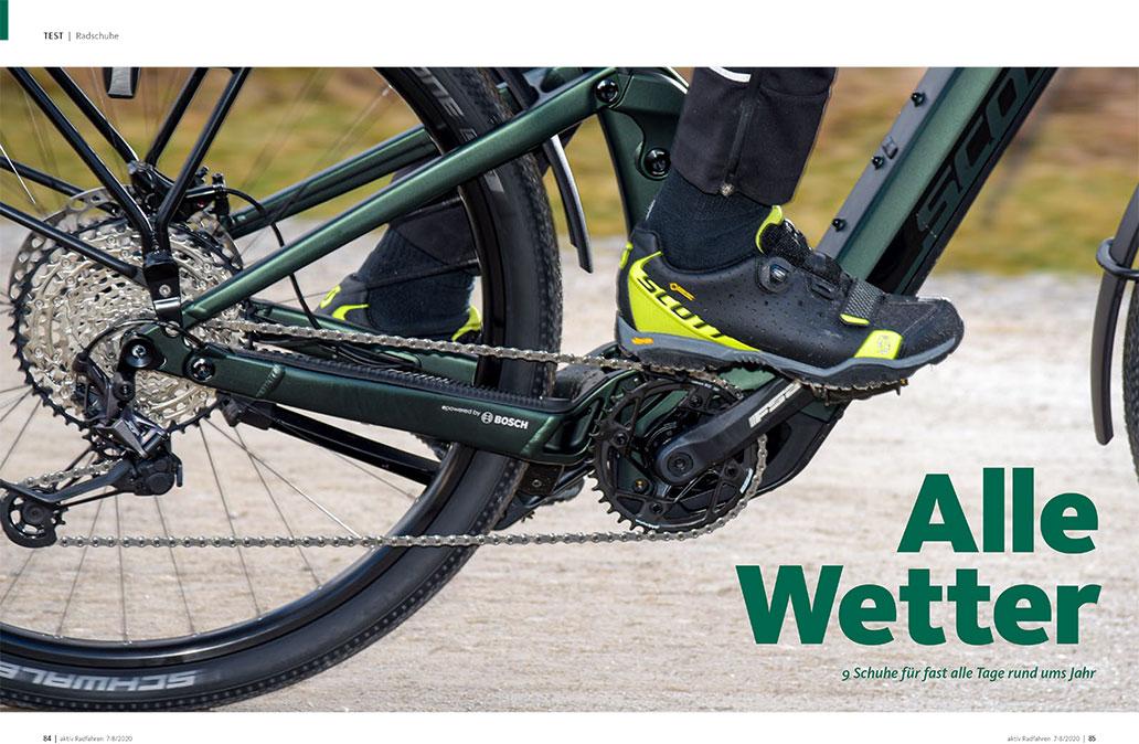 Allwetterschuhe mit Membran im Test, aktiv Radfahren 7-8/2020