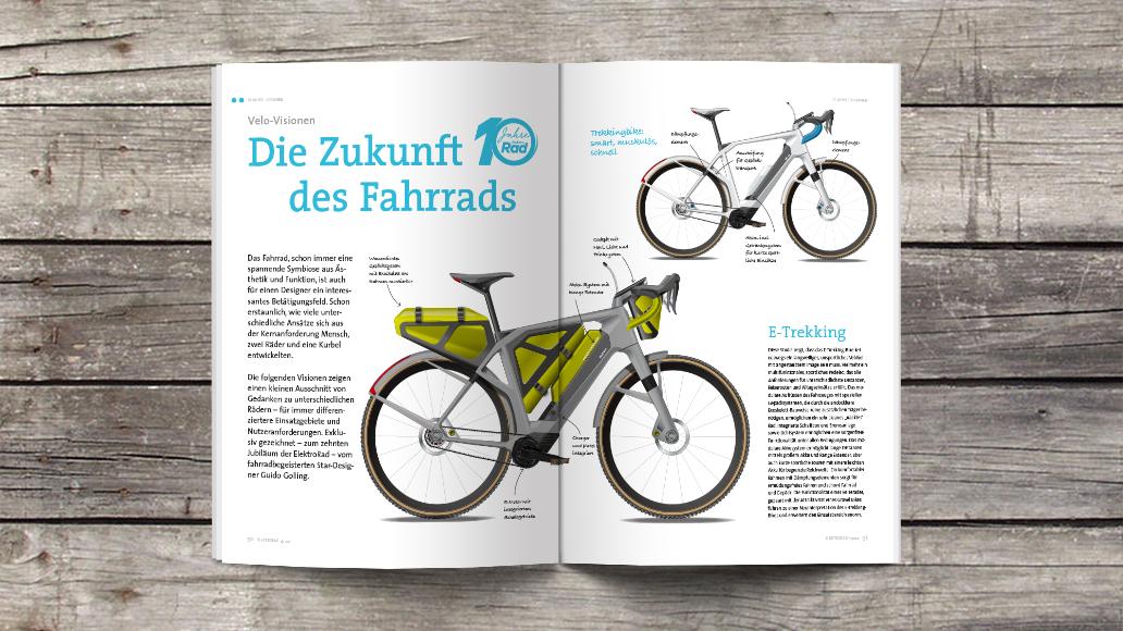 Guido Golling zeigt Studien des E-Bikes der Zunkunft
