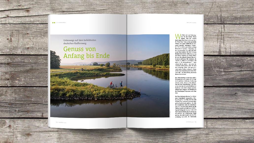 Wunderschöner Weser-Radweg