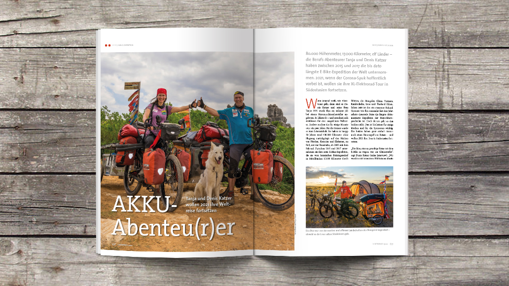 Abenteurer: Tanja und Denis Katzer auf E-Bike-Weltreise