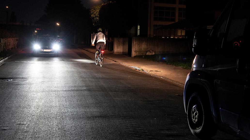 Radfahren, Dunkelheit, Sicherheit, E-Bike
