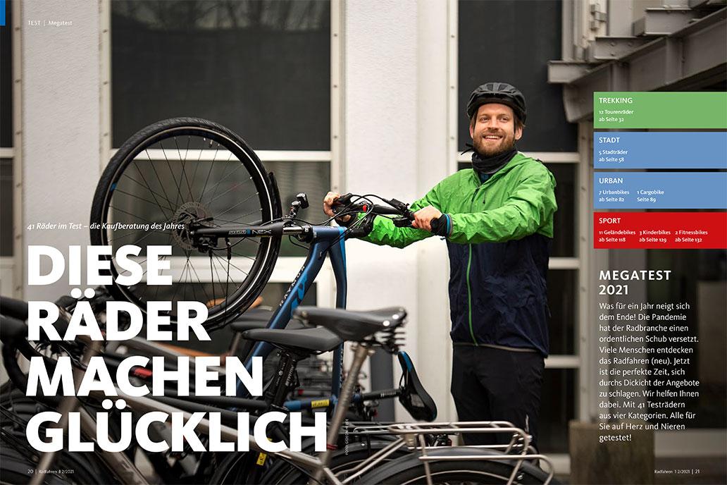 Radfahren 1-2/2021, Megatest