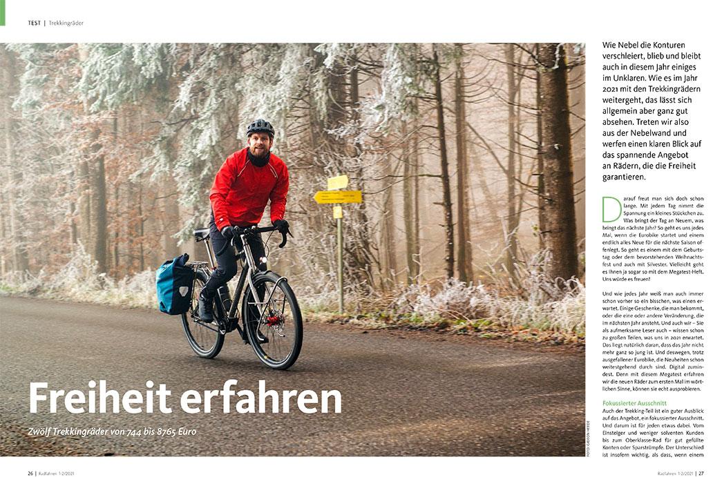 Radfahren 1-2/2021, Trekkingräder
