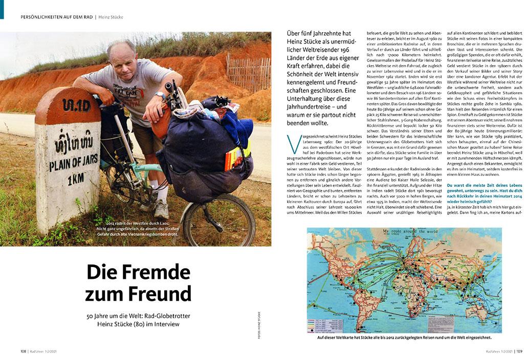 Radfahren 1-2/2021, Heinz Stücke