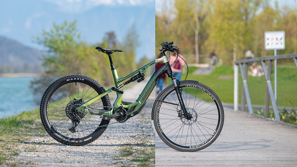 Fahrsicherheit: Vom E-MTB geht's aufs Trekkingbike