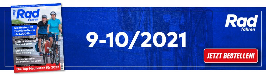 Radfahren 9-10/2021, Banner